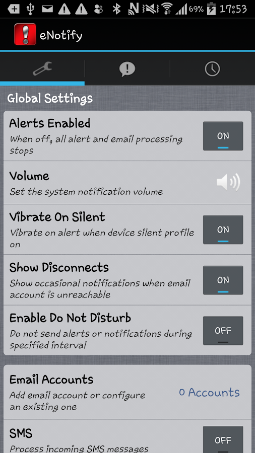 eNotify- screenshot