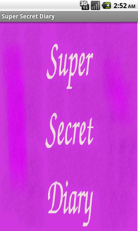 Super Secret Diary - screenshot