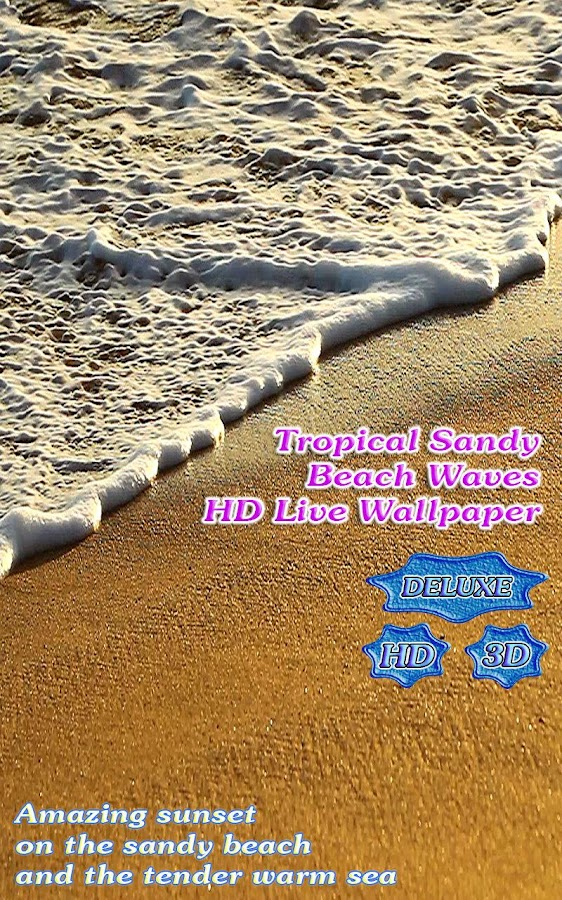 Tropical Sandy Beach Waves HD- screenshot