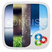 Concise GO Launcher Live Theme