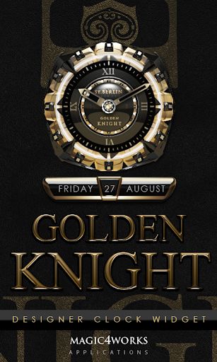 Golden Knight Clock Widget