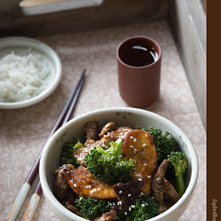 Beef, Broccoli and Plantain Stir Fry.