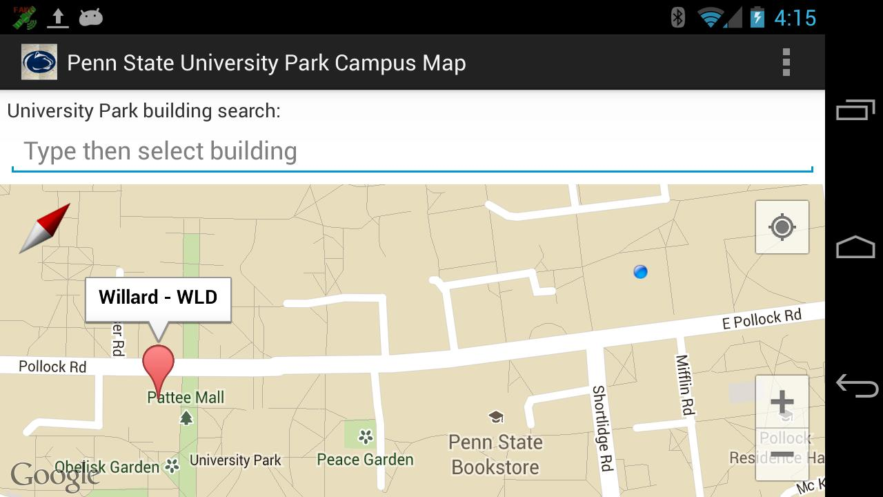 Map for Penn State Campus - screenshot