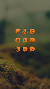 Orange Go Apex Nova Icon Theme- screenshot thumbnail