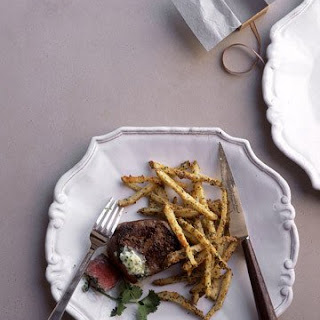 Filet Mignon with Herb-and-Cheese Potatoes.