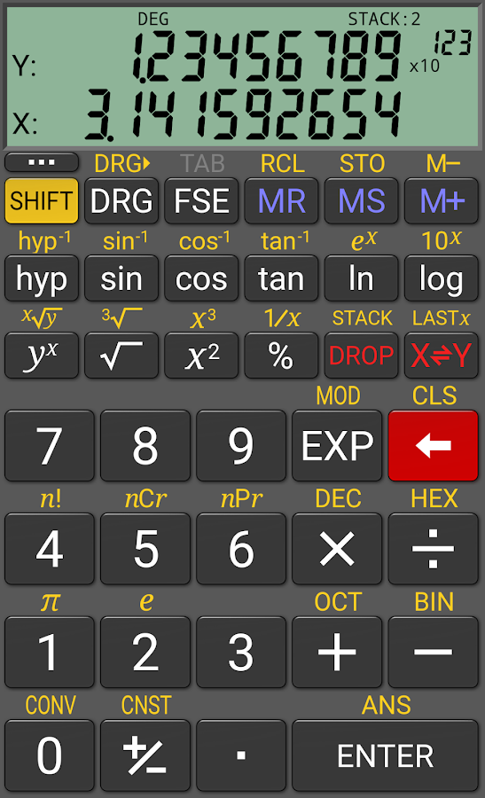 RealCalc Scientific Calculator: captura de tela