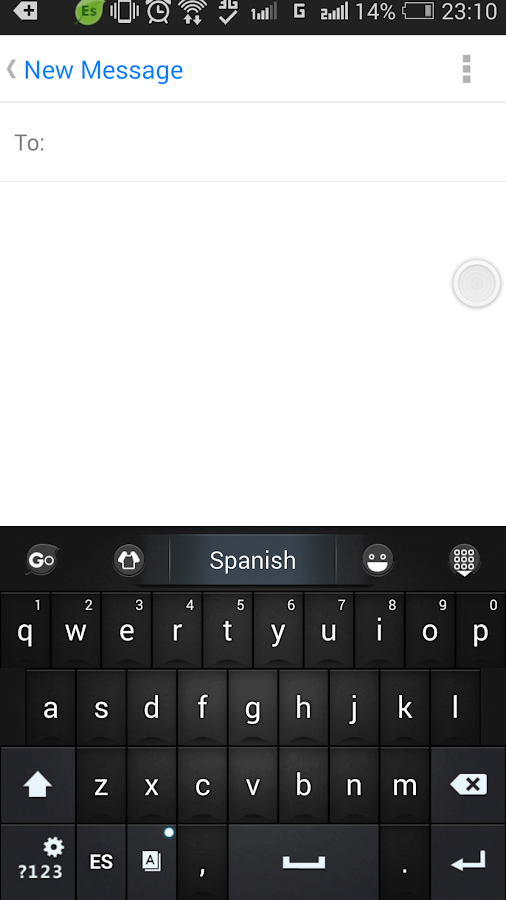 Spanish Language - GO Keyboard- screenshot