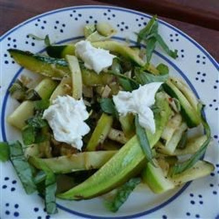 Zucchini Ribbons with Goat Cheese Recipe