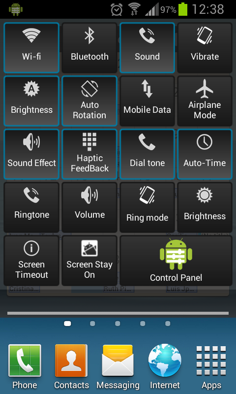 Control Panel- screenshot