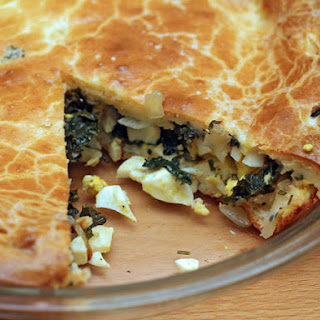 Kale and Onion Pie.