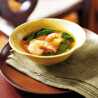 Shrimp and Spinach Soup.