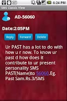Screenshot of SMS Classic View