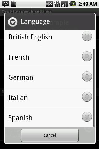 Speak SMS - screenshot