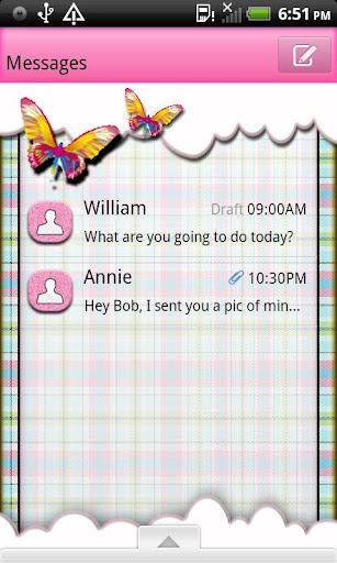 GO SMS THEME ButterflyPld4U