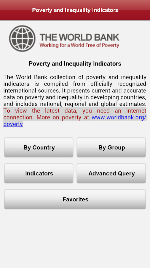 Poverty&Inequality DataFinder - screenshot