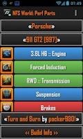 Screenshot of NFS World: Perf Parts