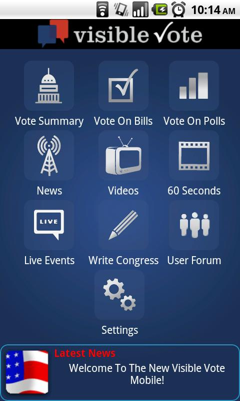Visible Vote Mobile - screenshot