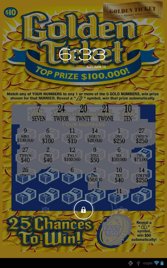 Gold Ticket Lotto Scratch Off- screenshot
