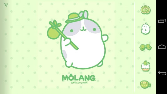 Molang Clover Green Atom theme screenshot 0