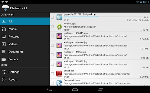 FilePush - screenshot thumbnail