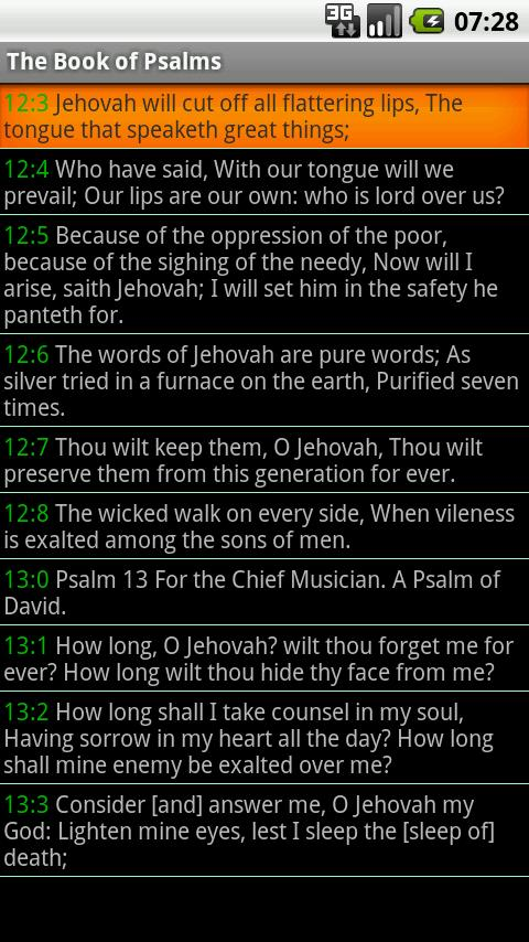 Bible ASV - screenshot