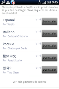 Easy SMS Spanish language - screenshot thumbnail