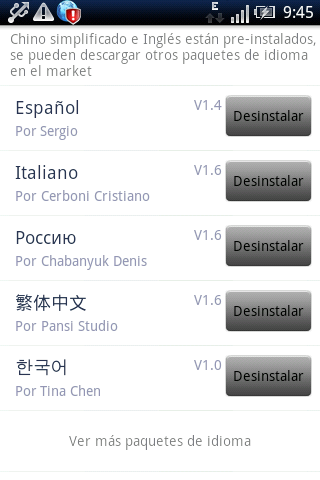 Easy SMS Spanish language - screenshot