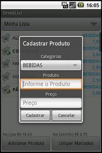 DroidList- screenshot thumbnail