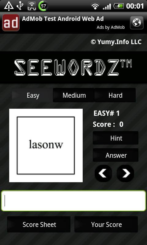 SeeWordz™ Brain Game Free - screenshot