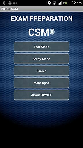 Exam: CSM