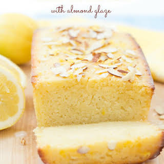 Lemon Ricotta Cake with Almond Glaze.