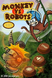 Monkey vs Robots Lite- screenshot thumbnail