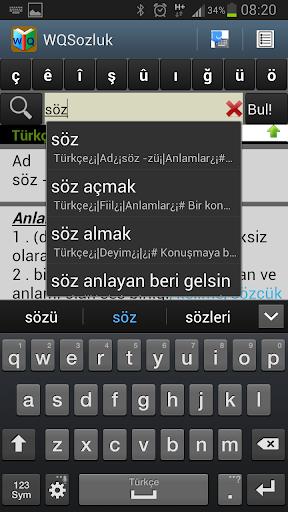 WQSozluk- Turkish Dictionary