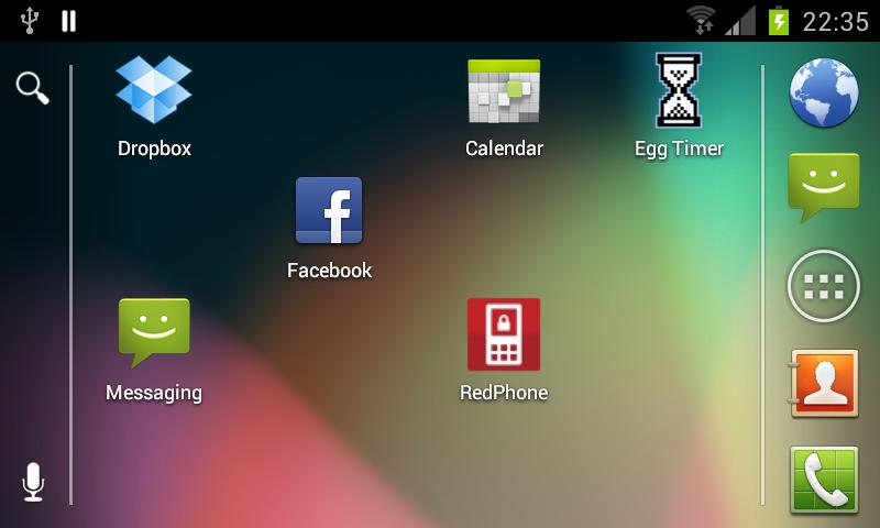 Android 4.1 Jellybean Launcher - screenshot
