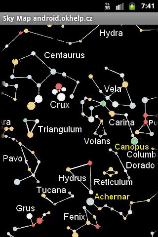 Sky Map of Constellations - screenshot
