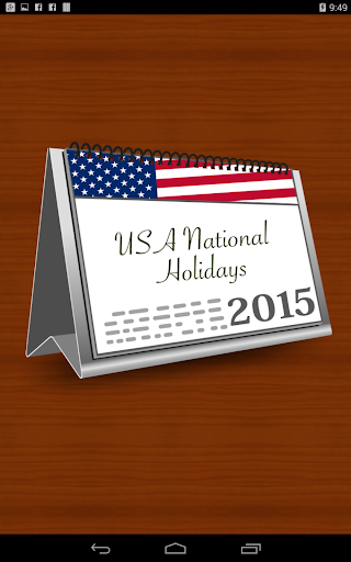 USA National Holidays 2015