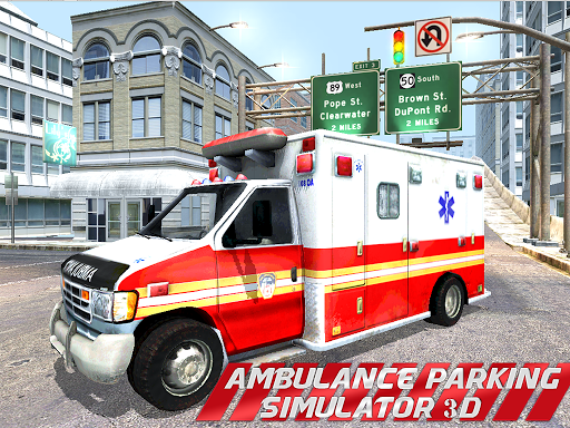 EMERGENCY AMBULANCE PARKING 3D
