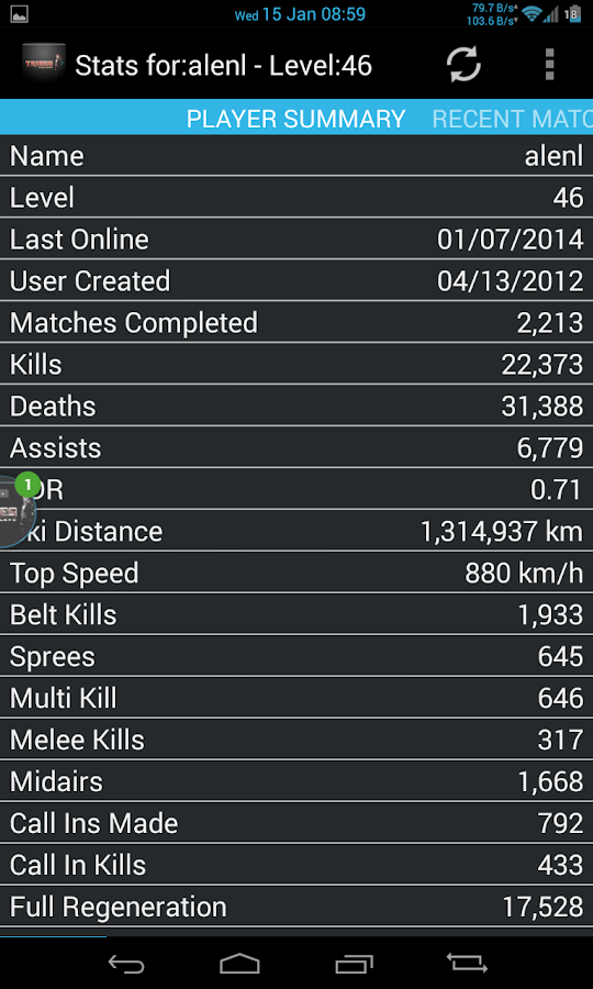 Tribes Ascend Stats - screenshot
