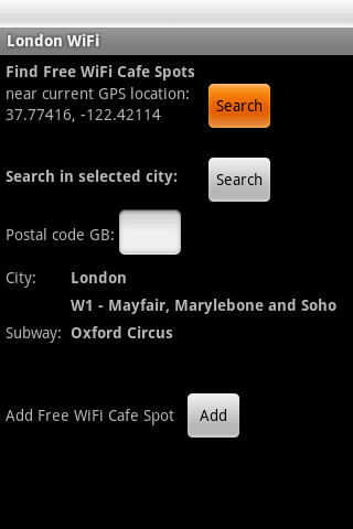 London Free WiFi- screenshot