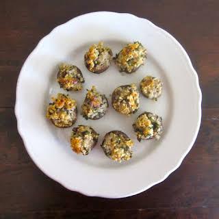 Quinoa Stuffed Mushrooms.