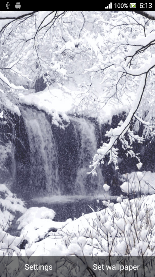 Christmas Snow Live Wallpaper - screenshot