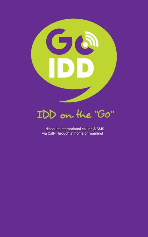 GoIDD Dialer -Intl Calls & SMS - screenshot