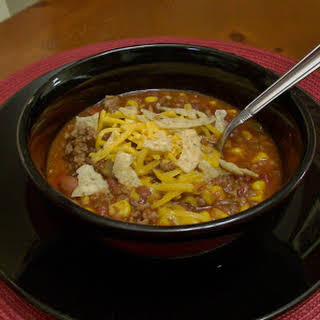 Slow Cooker Can Can Taco Soup.