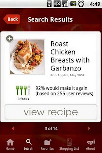 Epicurious Recipe App - screenshot thumbnail