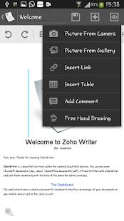 Zoho Writer - screenshot thumbnail