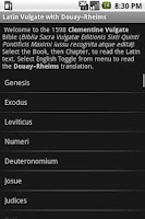 Screenshot of Bible: Vulgate + DRC (free)