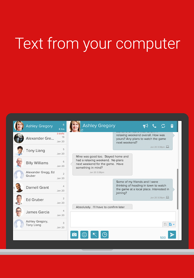 SMS Text Messaging & Group MMS - screenshot