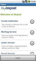 Screenshot of Eirpost