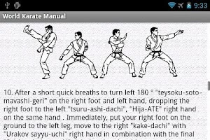 Screenshot of Self-defense. (World karate)