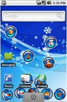 Screenshot of XmasBalls LiveWallpaper
